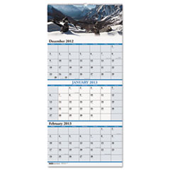 House of Doolittle Scenic Landscapes Three-Months/Page Wall Calendar, 12-1/4 x 26-1/2, 2012-2014