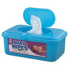 AmerCareRoyal® WIPES ALOE BABY UNSCNT TB Baby Wipes Tub, White, 80-tub, 12-carton