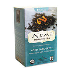 Numi Organic Teas and Teasans, 1.27oz, Aged Earl Grey, 18/Box