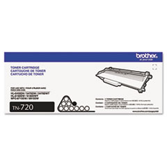 Brother TN720 (TN-720) Toner, 3000 Page-Yield, Black