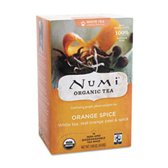 Numi Organic Tea, White Orange Spice, 16/Box