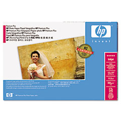 HP Designjet Large Format Semi-Gloss Paper, 11mil, 13 x 19, White, 25/Pack