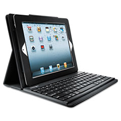 Kensington KeyFolio Pro Keyboard Case, For iPad 2/3, Black