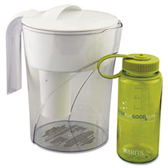 Brita Classic Pour-Through Pitcher, 48 oz., w/Bonus 16 oz. Water Bottle