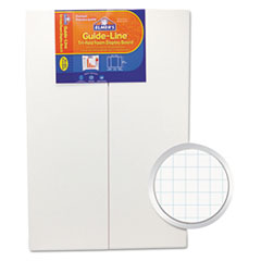 Elmer's Guide-Line Paper-Laminated Polystyrene Foam Display Board, 30 x 20, White, 2/PK