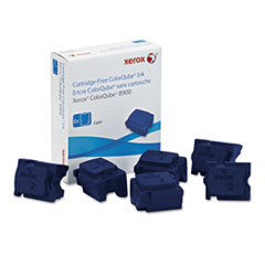 Xerox 108R01014 High-Yield Ink Stick, 16900 Page-Yield, Cyan, 6/Box