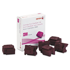 Xerox 108R01015 Ink Stick, 16900 Page-Yield, Magenta, 6/Box