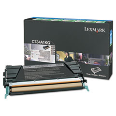 Lexmark C746A1KG High-Yield Toner, 12000 Page-Yield, Black