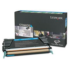 Lexmark C748H1CG High-Yield Toner, 10000 Page-Yield, Cyan