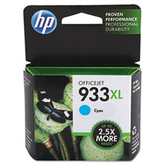 HP 933XL, (CN054AN) High Yield Cyan Original Ink Cartridge