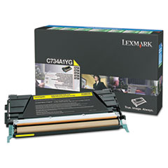 Lexmark C746A1YG Toner, 7000 Page-Yield, Yellow
