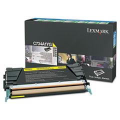 Lexmark C748H1YG High-Yield Toner, 10000 Page-Yield, Yellow