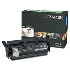 Lexmark T654X41G Extra High-Yield Government Toner, 36,000 Page-Yield, Black