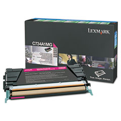Lexmark C748H1MG High-Yield Toner, 10000 Page-Yield, Magenta