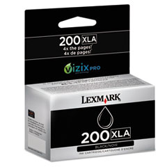 Lexmark 14L0197 High-Yield 200XLA Ink, 2500 Page-Yield, Black
