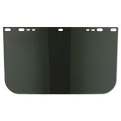 """Anchor Brand® VISOR 9X15.5 UNBOUND DGN Face Shield Visor, 15 1-2"""" X 9"""", Dark Green, Unbound, Plastic"""
