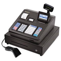 Sharp XE-A507 Cash Register, 7000 LookUps, 99 Dept, 40 Clerk, with Hand Scanner