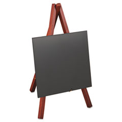 deflect-o Securit Easel Table Board, 5 7/8 x 5 3/8 x 9 1/2, Mahogany Frame, 1/ea