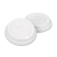 Dixie Dome Drink-Thru Lids, Fits 10, 12 & 16 oz. Paper Hot Cups, White, 50/Pack