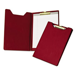 Samsill Pad Holder, Heavy Vinyl, Brass Clip, Writing Pad, Inside Pocket, Burgundy
