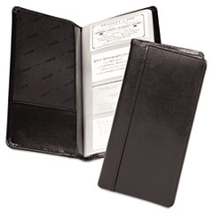 Regal Leather Business Card Binder Holds 96 2 x 3 1/2 Cards, Black