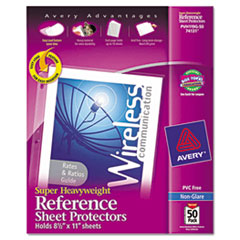 Avery Top-Load Poly Sheet Protectors, Super Heavy Gauge, Ltr, Nonglare, 50/Box
