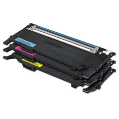 Samsung CLTP407A Toner, Cyan, Magenta, Yellow, 3/Box