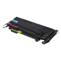 Samsung CLTP407C Toner, Black, Cyan, Magenta, Yellow, 4/Box