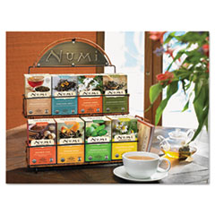 Numi Tea Rack, 14 1/2 x 12 x 17 3/4, Black, 3 Boxes Each of 8 Flavors of Tea