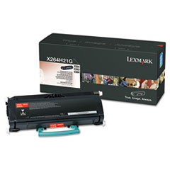 Lexmark X264H21G High-Yield Toner, 9000 Page-Yield, Black