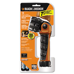 Rayovac Black & Decker LED Flashlight, Black Orange, 2 AA