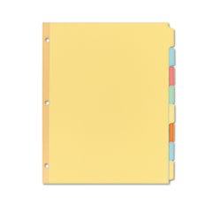 Avery Write-On Plain Tab Dividers, Eight Multicolor Tabs, Letter, Salmon, 24 Sets