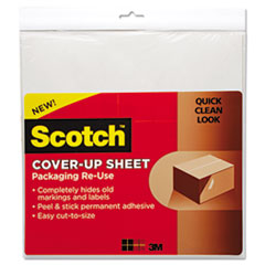 Scotch Cover-Up Sheet, 12 x 12, White, 6/Pk