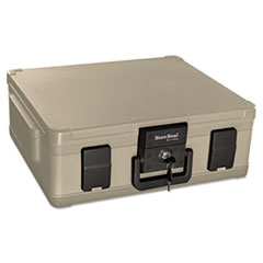 SureSeal By FireKing Fire and Waterproof Chest, 19-9/10w x 17d x 7-3/10h, Taupe