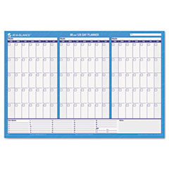 "Recycled 90/120-Day Undated Horizontal Erasable Wall Palnner, 36"" x 24"