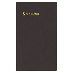 AT-A-GLANCE Recycled Weekly Appt. Book with Memo Pad, Refillable, 3-1/4 x 6-1/4, Black, 2014