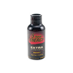 5-hour ENERGY Extra Strength Energy Drink, Berry, 1.93oz Bottle, 12/Pack