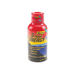 5-hour ENERGY Energy Shot, Berry, 1.93 oz Bottle, 12/Pack