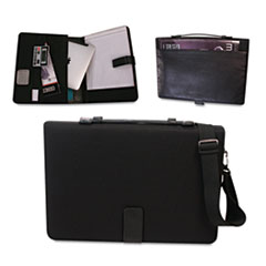 Bond Street, Ltd. Tablet Case/Organizer with Writing Pad, 14-3/4 x 2, x 10-1/4, Black