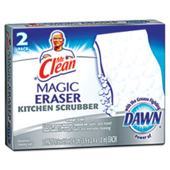 Mr. Clean Magic Eraser Kitchen Scrubber, 2 per Box