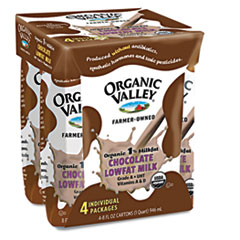 Organic Valley Milk, Single Serve, Chocolate, 8oz Aseptic Container, 4/Pack