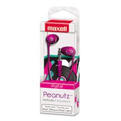 Maxell Peanutz Digital Earbuds, Pink
