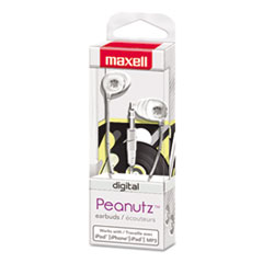 Maxell Peanutz Digital Earbuds, White