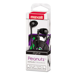 Maxell Peanutz Digital Earbuds, Black