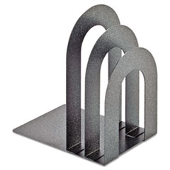 SteelMaster Soho Bookend with Curved Corners, 5�w x 7�d x 8�h, Granite