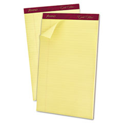 Ampad Gold Fibre Writing Pads, Legal/Wide Ruled, Legal, Canary, 50-Sheet Pads, Dozen