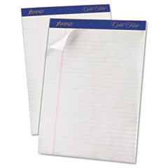 Ampad Gold Fibre Writing Pads, Legal/Wide Rule, Ltr, White, 50-Sheet Pads/Pack, Dozen