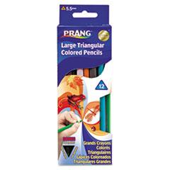 DIX 25120 Prang Triangular Colored Woodcase Pencil DIX25120