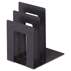 SteelMaster Soho Bookend with Squared Corners, 5�w x 7�d x 8�h, Granite