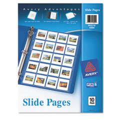 Avery Photo Pages for Twenty 2 x 2 Slides, 3-Hole Punched, 10/Pack